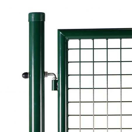 Zoom gond portillon grillagé vert