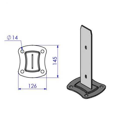 Schéma platine pour poteau Easy Pro Clip