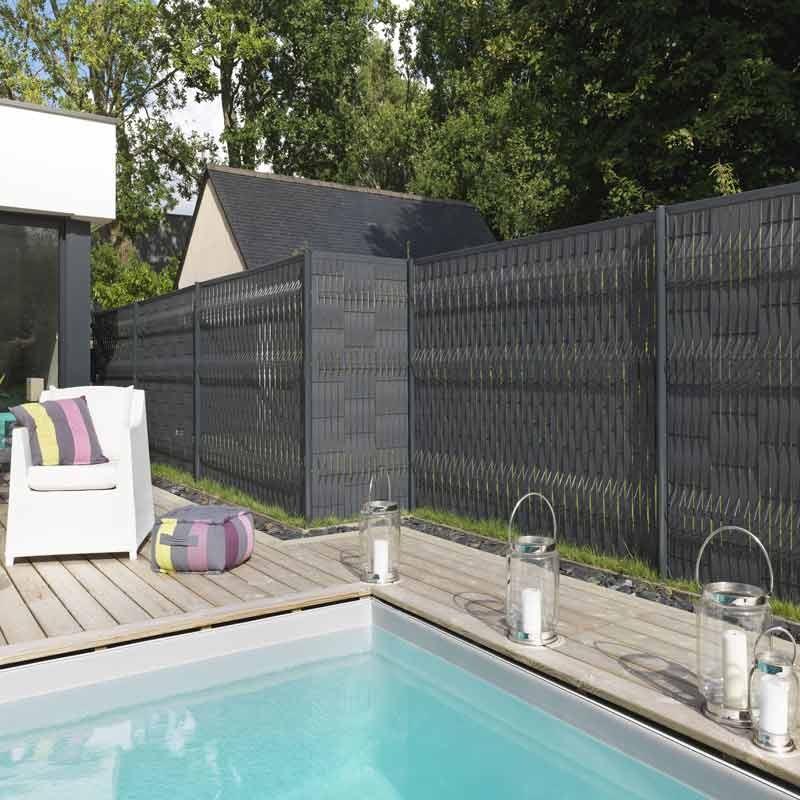cloture gris anthracite lame emboiter pour la ralisation de palissade en aluminium dimensions l. Black Bedroom Furniture Sets. Home Design Ideas