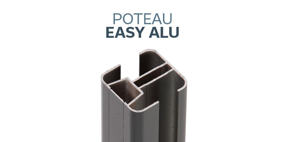Poteau Easy Alu pour clôture composite