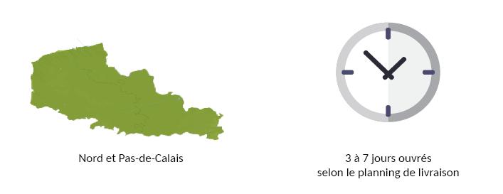 informations sur les délais de livraison d'une commande easycloture dans le nord pas de calais