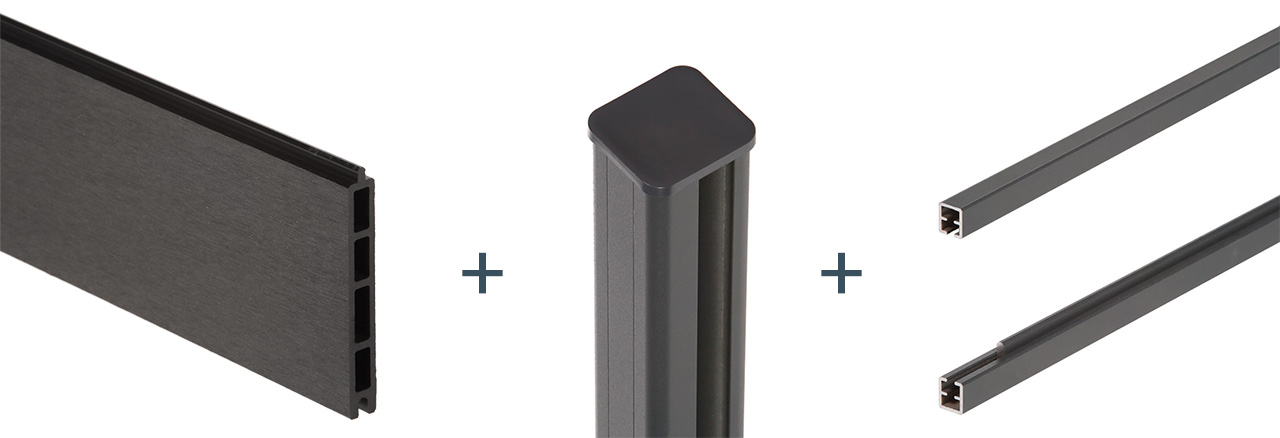 clôture composite éléments