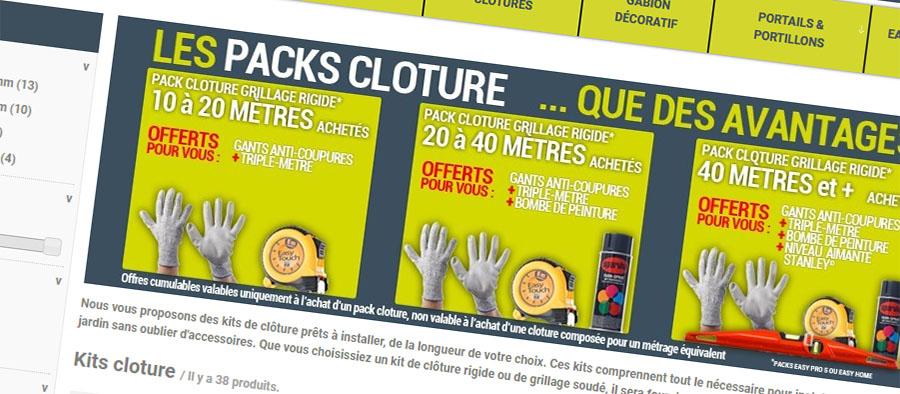 Easycloture, packs clôtures